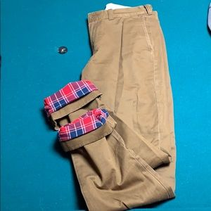 J. Crew Sutton Flannel Lined Chino
